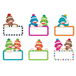 (6 Pk) Sock Monkey Signs Accents Variety Pk
