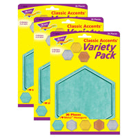 (3 Pk) Hexagons Classic Accents Var Pack I Heart Metal