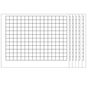 (6 Ea) Wipeoff Chart Graphing Grid 1-1-2 Inch Squares 22 X 28 - Student Spotlight