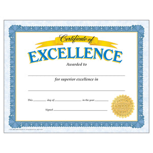 Certificate Of Excellence 30-pk
