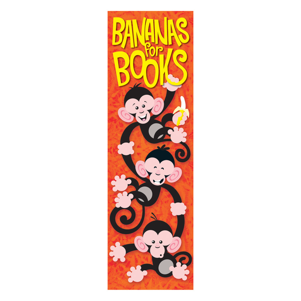(6 Pk) Bananas For Books Monkey Mischief Bookmarks