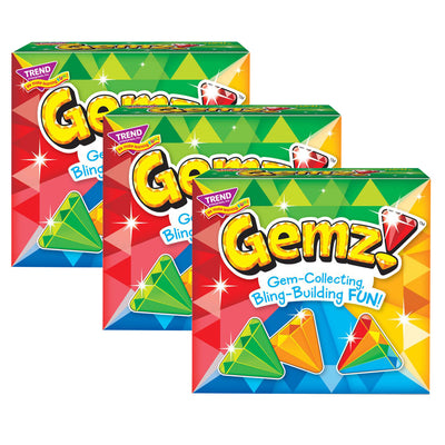 (3 Ea) Gemz Three Corner Card Game