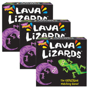 (3 Ea) Lava Lizards Three Corner Card Game