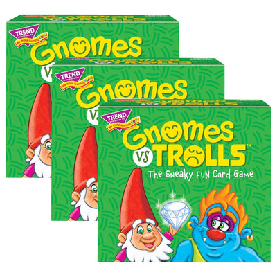 (3 Ea) Gnomes Vs Trolls 3 Corner Card Game