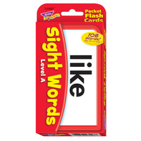 (3 Ea) Pocket Flash Cards Sight Words A