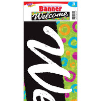 Welcome Swirl Dots Banner