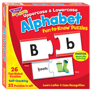 (3 Ea) Fun To Know Puzzles Uppercas & Lowercase Alphabet