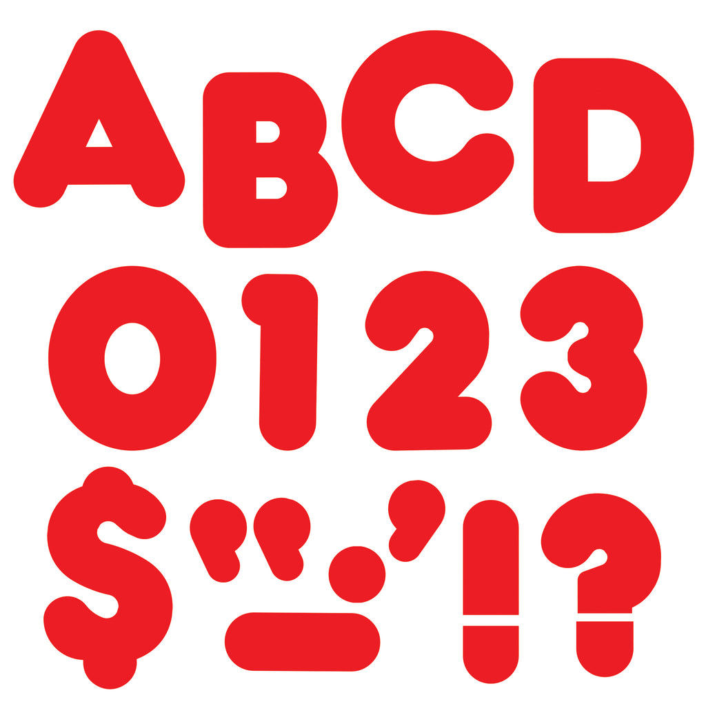 (6 Pk) Ready Letters 4in Casual Red