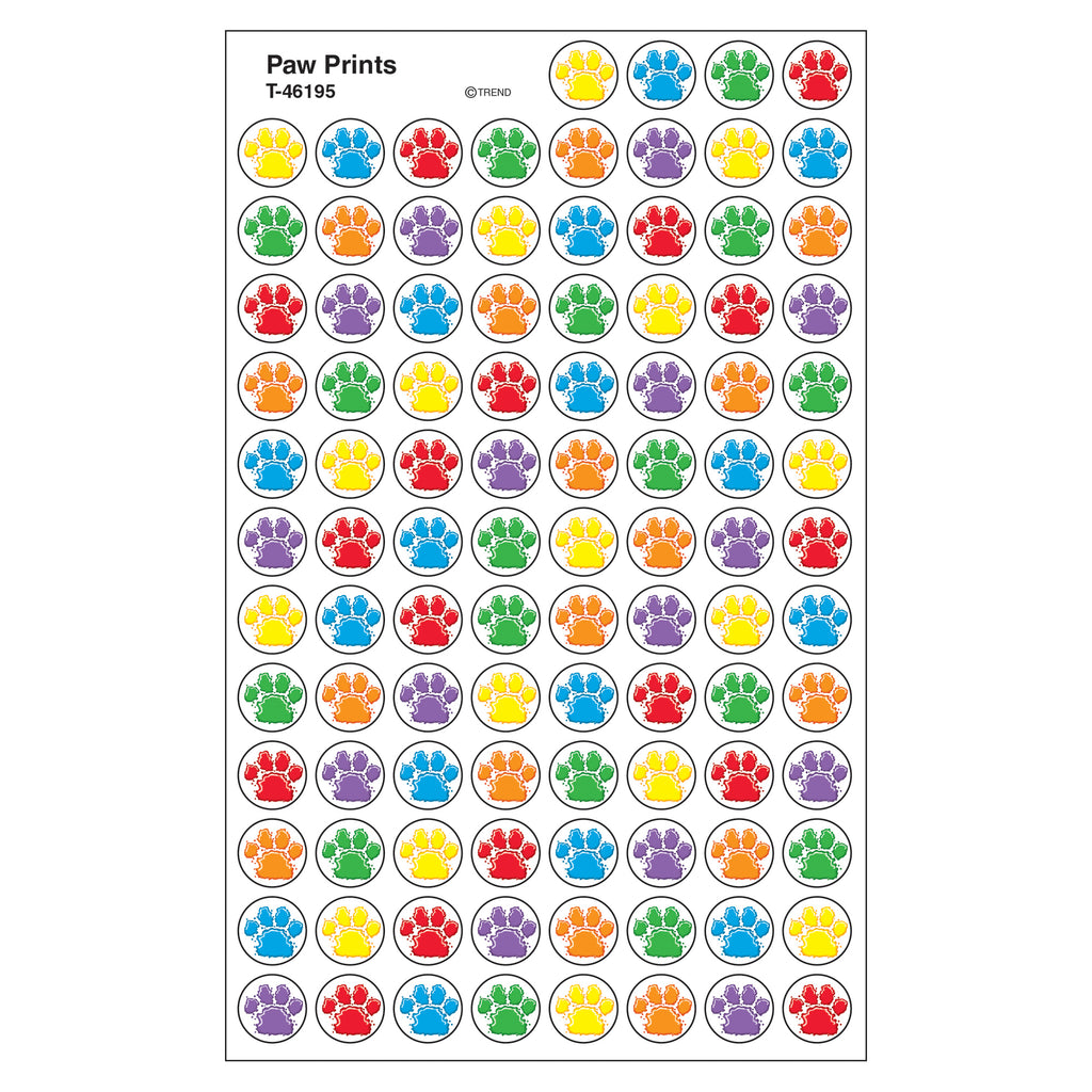(6 Pk) Paw Prints Superspots Stickers