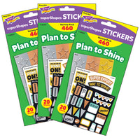 (3 Pk) Plan To Shine Supershapes Stickers I Love Metal