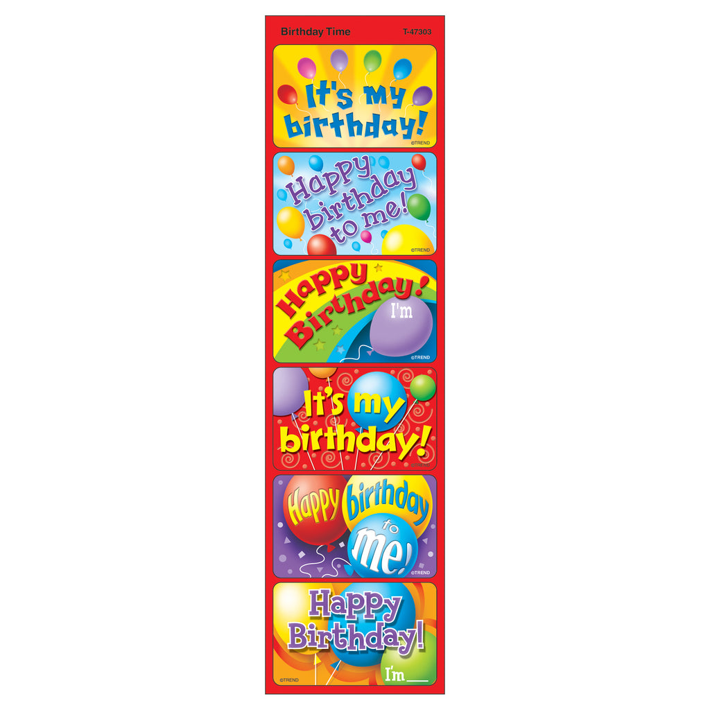 Applause Stickers Birthday 30-pk Time Acid-free Larger Size