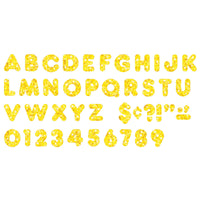 (6 Pk) Ready Letters 2in Casual Yellow Sparkle