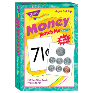 (6 Ea) Match Me Cards Money 52 Per Bx 2 Sided Cards Ages 6&up