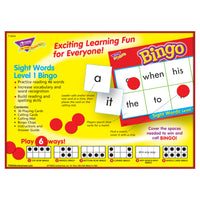 Bingo Sight Words Ages 5 & Up