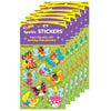 (6 Pk) Flittering Fairies Sparkle Stickers 18 Ct