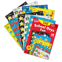 (2 Pk) Sparkle Stickers Variety Pk School Days