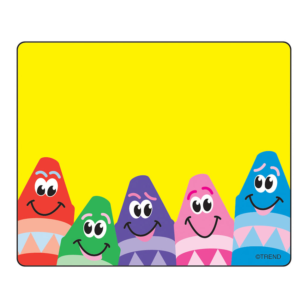 (12 Pk) Name Tags Colorful Crayons 36 Per Pk
