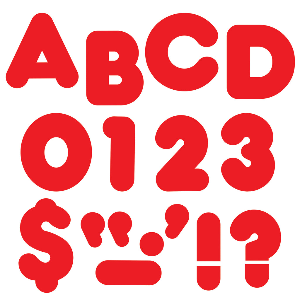 (6 Pk) Ready Letters 3in Red Casual 123 Per Pk