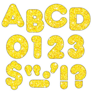 Ready Letters 3 Casual Yellow Sparkle