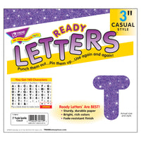 Ready Letters 3 Inch Casual Purple Sparkle