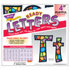 (3 Pk) Ready Letter 4in Stained Glass Playful Combo