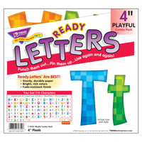 (3 St) Ready Letters 4in Pixels Playful Combo