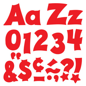 Red 4in Combo Pack Uppercase Lowercase