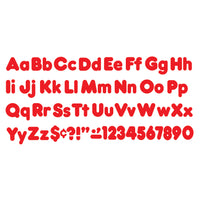 (6 Pk) Ready Letters 4in Red Casual Uppercase & Lowercase Combo