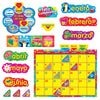 Wipe Off Stars N Swirls Calendar Cling Spanish  Bb Set