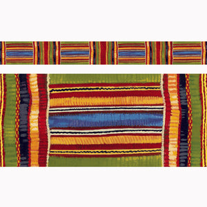 (6 Pk) Kente Cloth Borders Straight Edge 11 Per Pk 2.75x35.75 Total