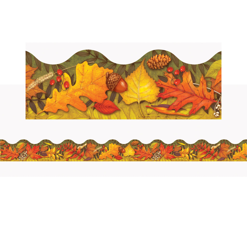 Leaves Of Autumn Trimmers Scalloped Edge 12-pk 2.25 X 39 Total