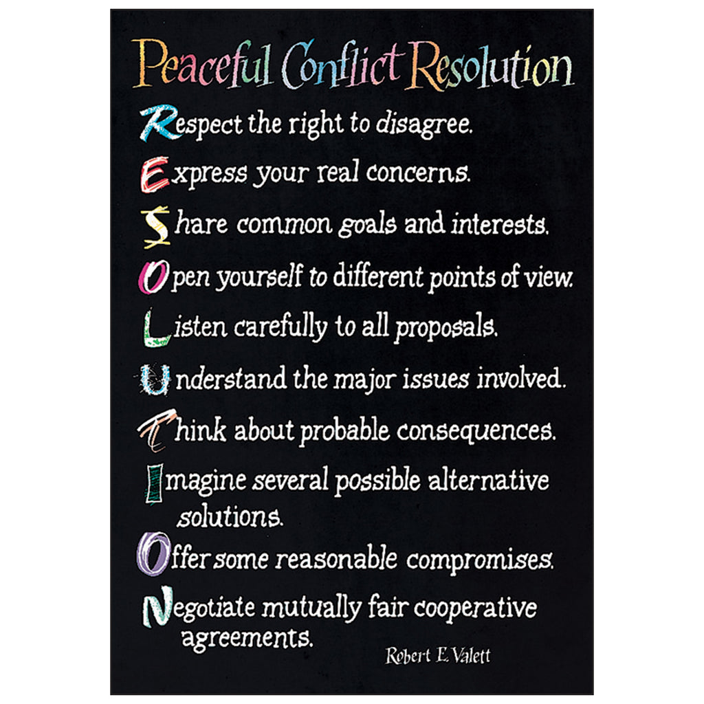 Poster Peaceful Conflict Resolution