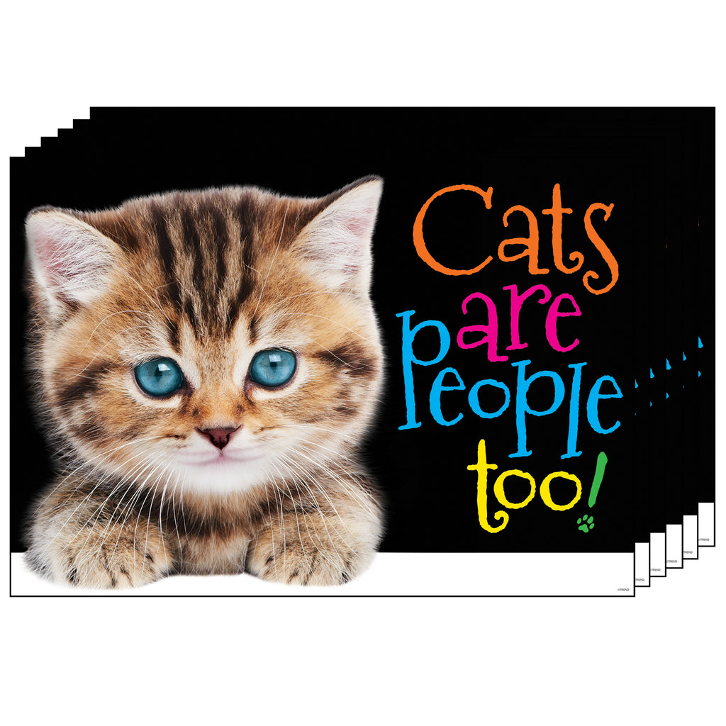 (6 Ea) Cats Are People Too Argus Poster