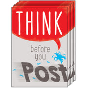 (6 Ea) Think Before You Post Argus Poster
