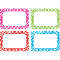 Scribble Name Tag Labels Multi Pack