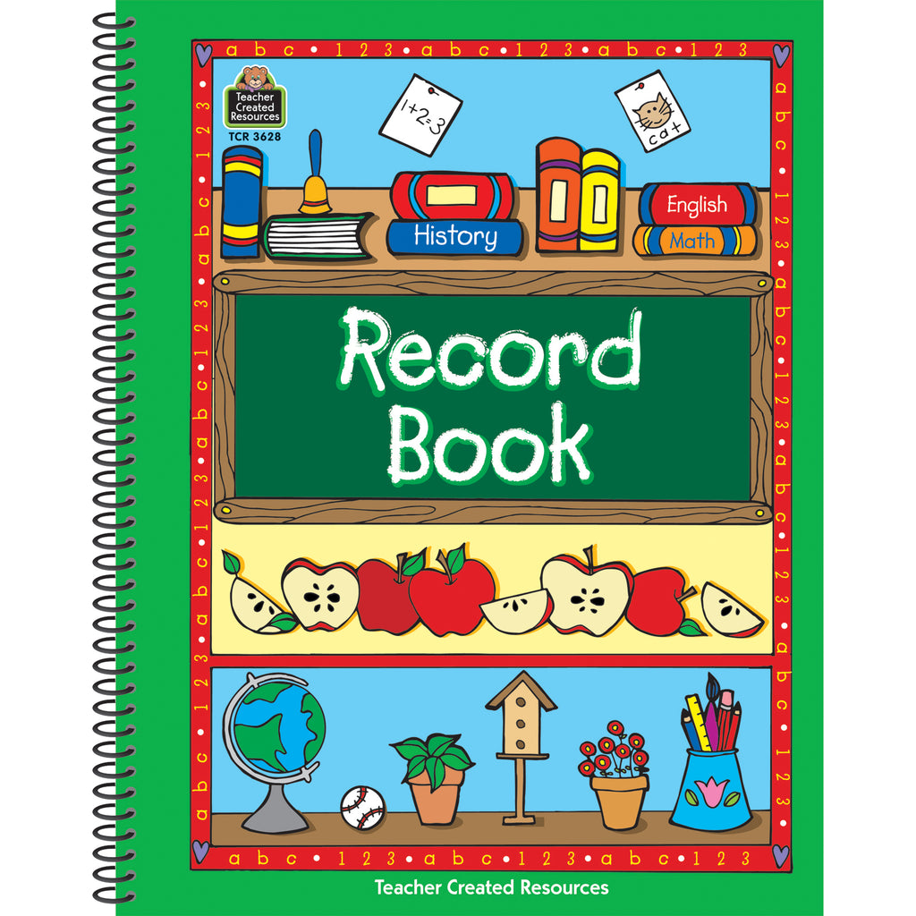 (5 Ea) Record Book Green Border - Student Spotlight