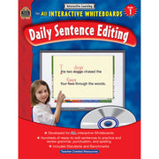 Interactive Learning Gr 1 Daily Sentence Editing Bk W-cd