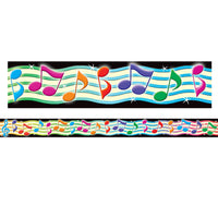 (6 Pk) Musical Notes Straight Border Trim