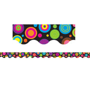 (12 Pk) Colorful Circles Scalloped Border Trim