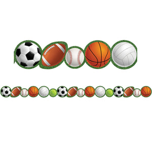 (6 Pk) Sports Die-cut Border Trim