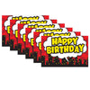 (6 Ea) Superhero Happy Birthday Postcard