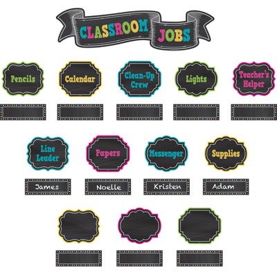 Chalkboard Brights Classroom Jobs Mini Bb Set