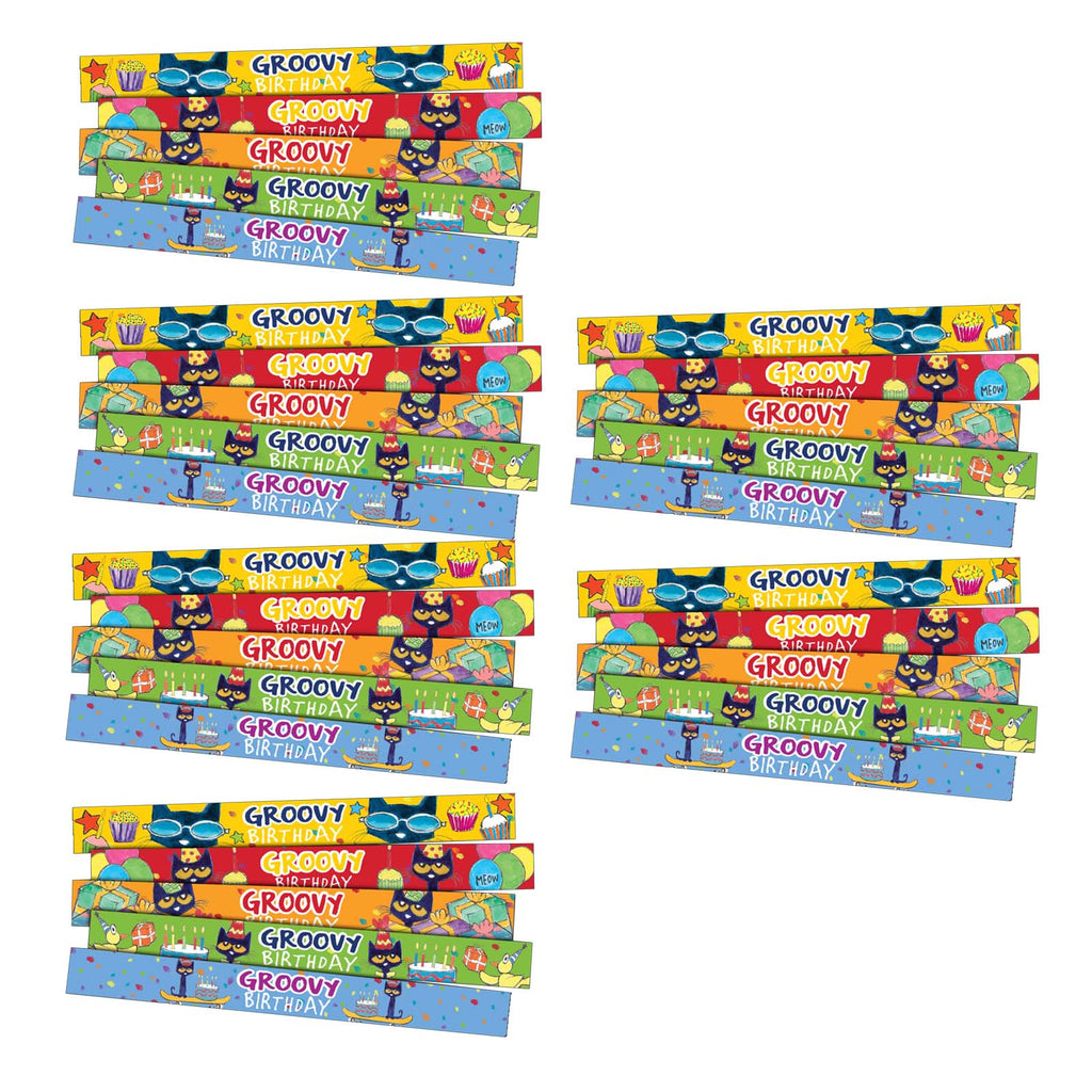 (6 Pk) Pete The Cat Birthday Slap Bracelts