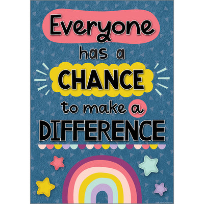 Everyone Has A Chance To Make A Difference Positive Poster - Student Spotlight