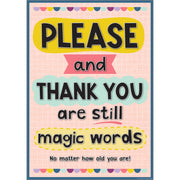 Please & Thank Your Are Still Magic Words Positive Poster - Student Spotlight