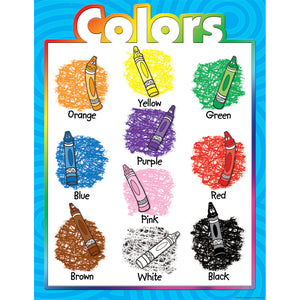 (6 Ea) Colors Early Learning Chart