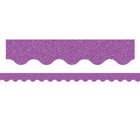 (3 Pk) Purple Glitz Scalloped Border Trim