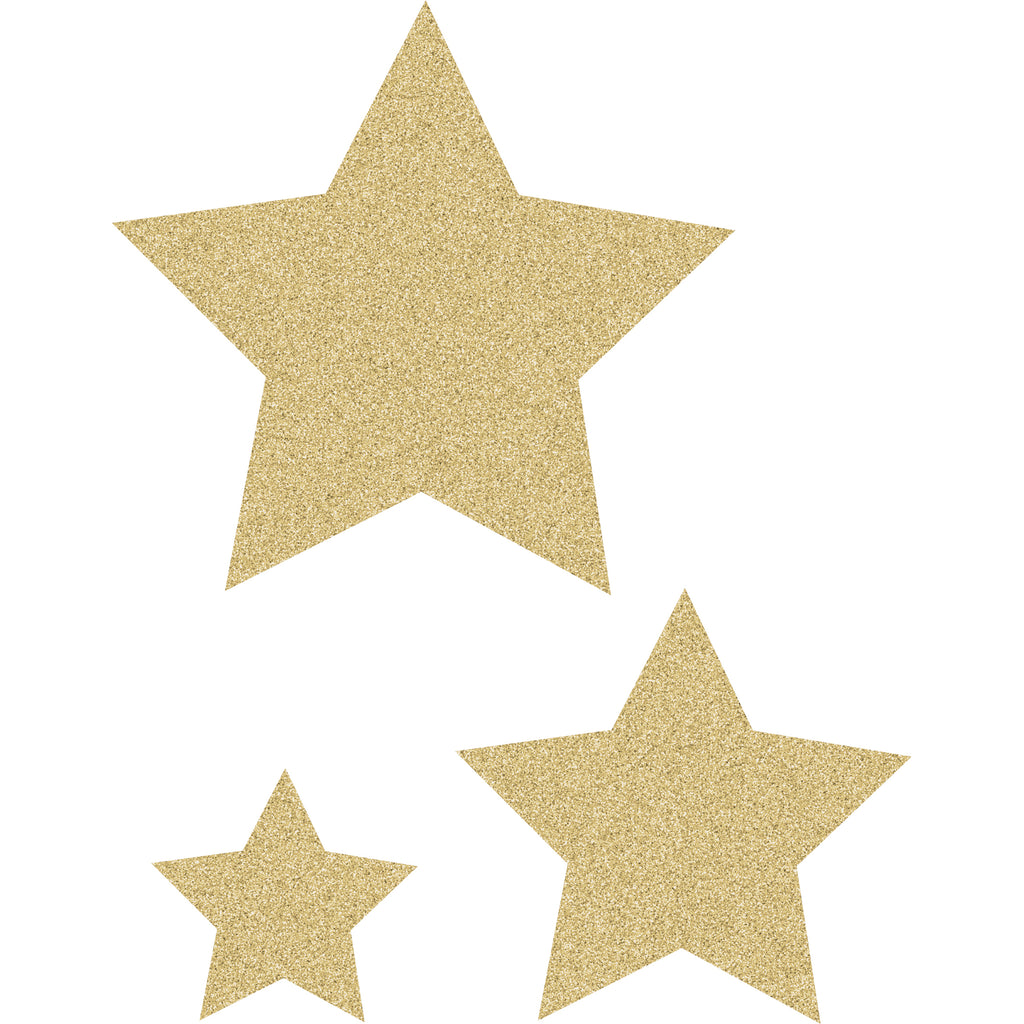 (3 Pk) Gold Glitz Stars Accnts Asst Sizes