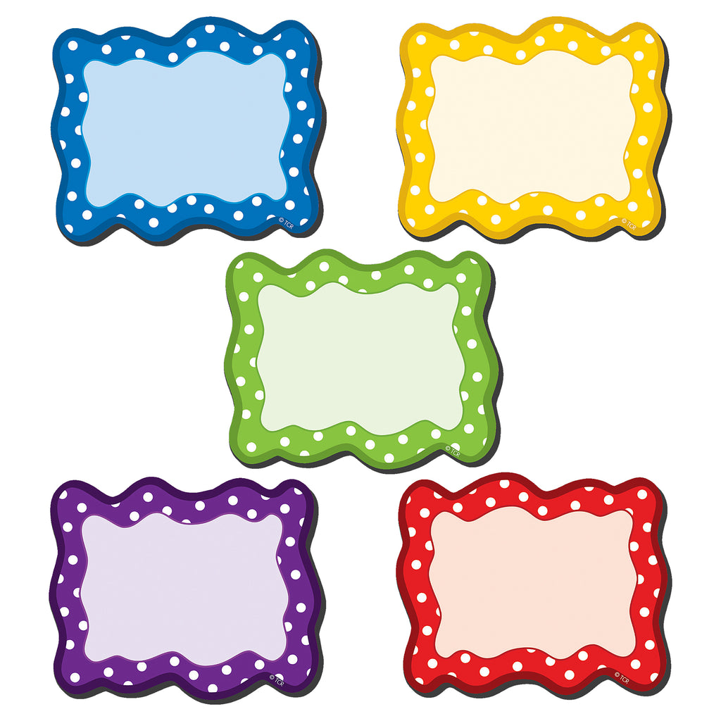 (3 Pk) Polka Dots Blank Cards Magnetic Accents