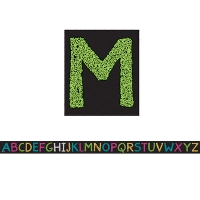 (6 Pk) Chalkboard Brights Alphabet Magnetic Strips